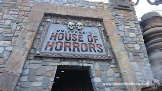 Universal Studios Hollywood - House of Horrors 2014 Full Walkthrough
