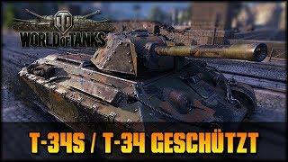 World of Tanks - Live: T-34S / T-34 geschützt [ deutsch