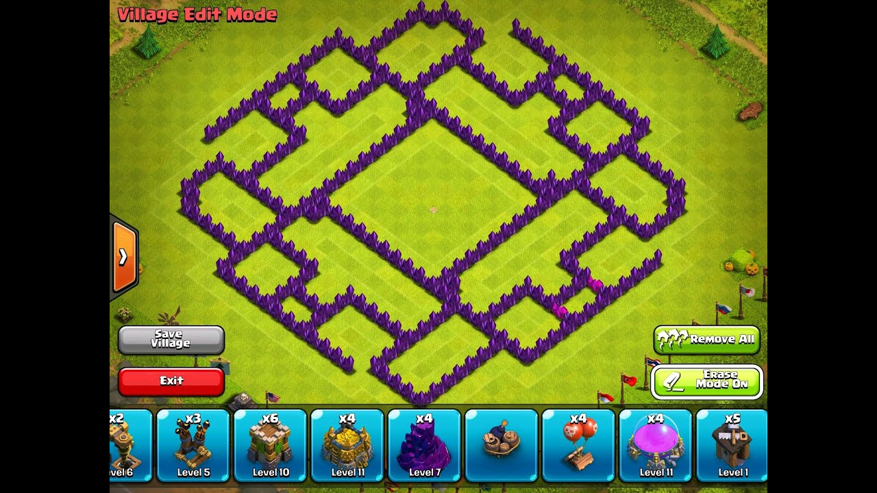 Clash of clans epic town hall 9 farming base using new village