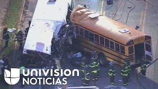 Al menos seis fallecidos en un accidente entre dos autobuses en Baltimore
