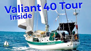 Fixing Sailboats:Bluewater Cruising Sailboat Tour #2, Valiant 40, Down Below-P Childress Sailing #31