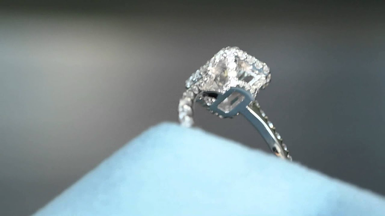 Unique radiant cut engagement rings