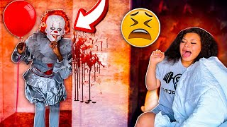 """IT"" CREEPY CLOWN PRANK ON GIRLFRIEND!!!"