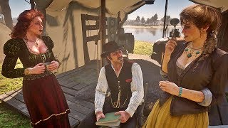 Dutch Flirts with Mary-Beth + Molly Jealous / Hidden Dialogue / Red Dead Redemption 2