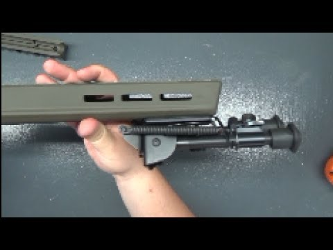 installing a bipod onto a magpul x 22 hunter stockfor the