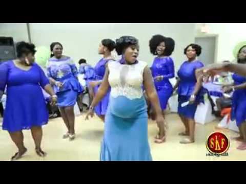 Pregnant Ghanaian Woman on the dance floor