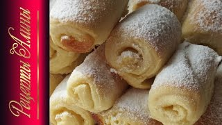 Нежное печенье из дрожжевого теста. Delicate cookies from the dough.Рецепты Алины.