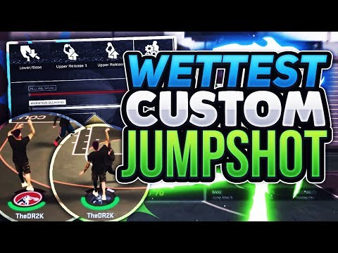 WETTEST CUSTOM JUMPSHOT CREATION EVER!! GREEN LIGHT MAGNET!! NBA2K17 MYPARK
