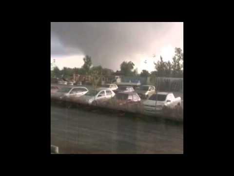 Mirá el fuerte tornado en Uruguay