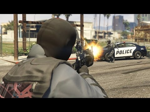 GTA 5 Police VS 5 Star Police With Cheats in Director Mode Part 6
