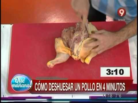 Ariel deshuesa un pollo en 4 minutos