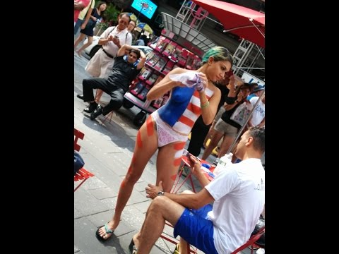 Naked Women In Times Square - A Different Form Of... Art, In New York video