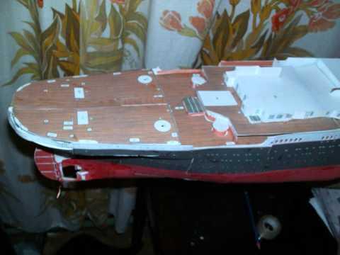 Kartonowy model Titanica