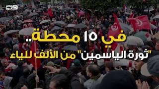 """في 15 محطة.. """"ثورة الياسمين"""" من الألف للياء"""