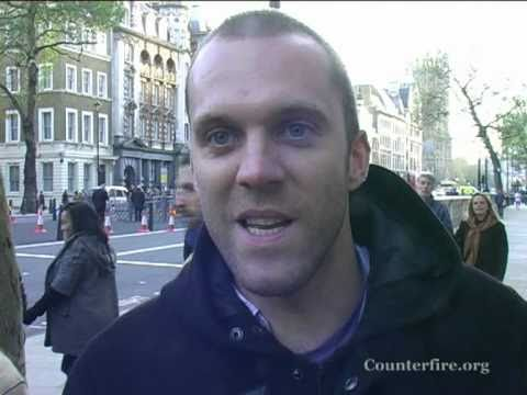 Joe Glenton - Afghanistan Veteran Returns Service Medals to David Cameron 20.11.10