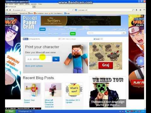 Strona do Drukowania :itemów ,bloków ,skinów itp.    3D    (MineCraft)
