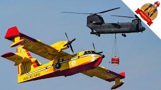 Vigili Del Fuoco CANADAIR CL-415 + CH-47 Chinook Esercito Italiano