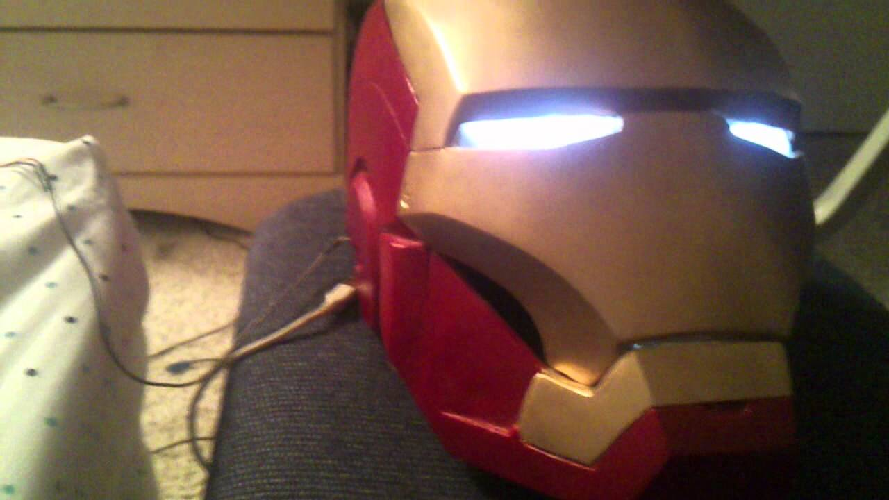 Ironman Helmet Mark Vii Electronic Faceplate With Led