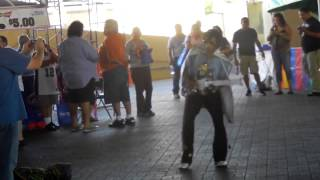 Dancing Mexican Elvis at the Market Square Fiesta San Antonio, 04 25 2012