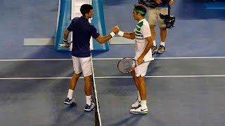 Novak Djokovic v Roger Federer highlights (SF)   Australian Open 2016