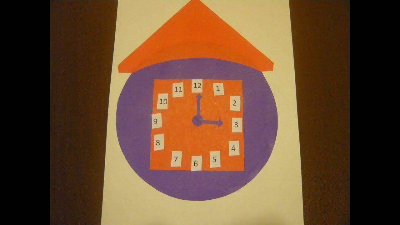 Часы своими руками из картона в школу фото140
