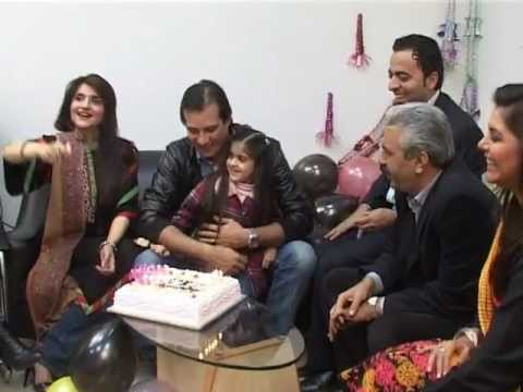 Moamar Rana's 38th Birthday Celebrated By ARY News, Lahore. (Naeem Hanif)
