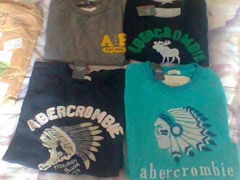 [#09] Unboxing AliExpress - 04 Camisas Abercrombie & Fitch