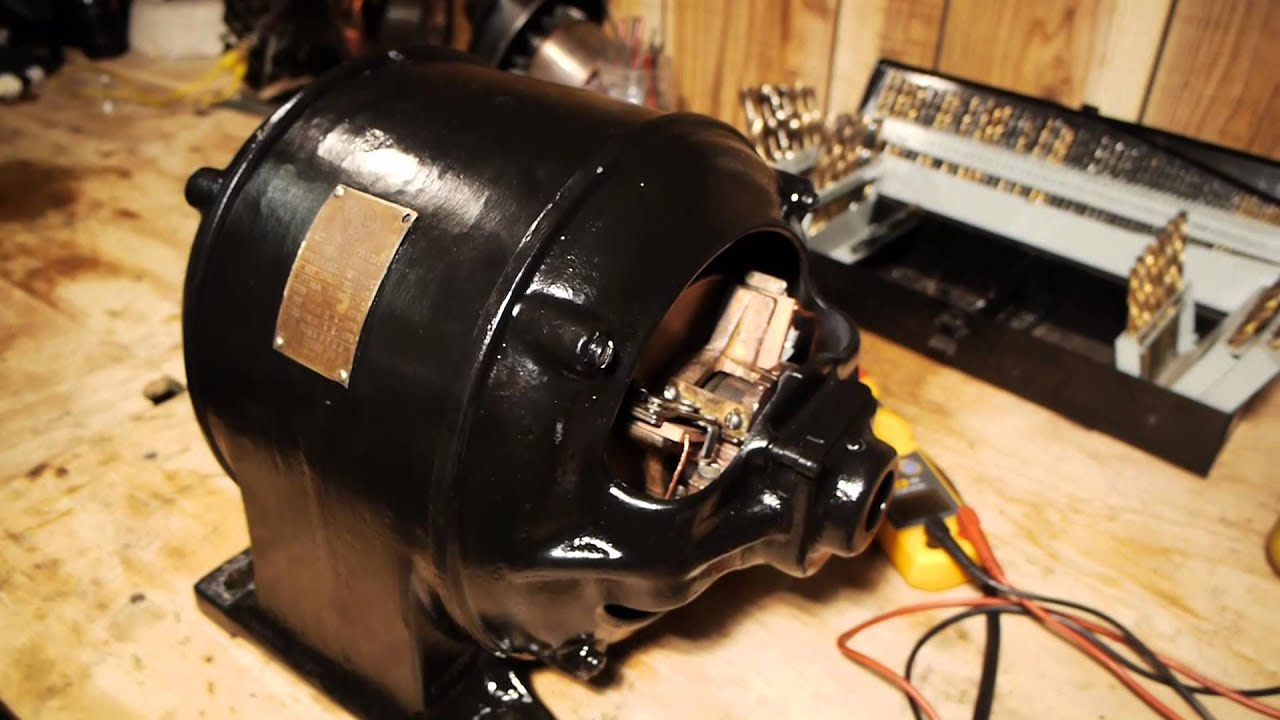 Antique 1906 Wagner Repulsion Induction Motor 1 5hp 1725rpm 110vac 220vac Youtube