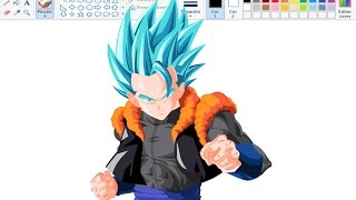 Desenhando Anime no Paint - Gogeta SSJ God SSJ - Dragon Ball Super