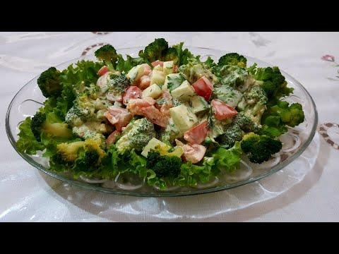 Очень вкусный,быстрый салат с брокколи. Гости будут восторге Brokkolidan salat