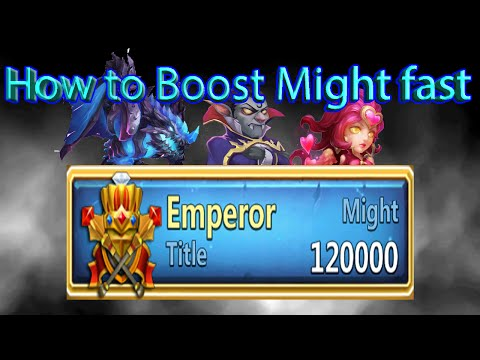 Castle Clash Fastest way to Level/Boost might
