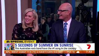 5 Seconds Of Summer interview on sunrise
