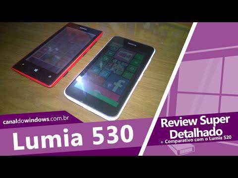 Nokia Lumia 530 Review + Comparação com o Lumia 520 [PT-BR]