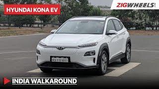 Hyundai Kona Electric Walkaround | Price, Variants, Features & More | Zigwheels.com