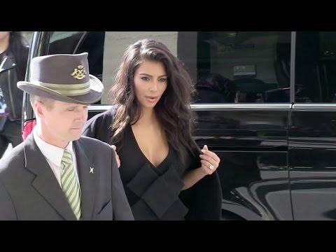 Tabloid fave Kim Kardashian running errands in Paris