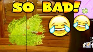 WORST BUSH PLAYER YOU'VE EVER SEEN!! (Fortnite Battle Royale Gameplay)