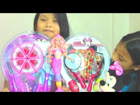 Disney Princess Sweet Strawberry Cake Playset and Minnie Mouse Pizza Playset