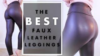 The BEST Faux Leather Leggings! | Milabu