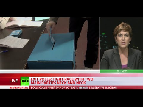 Exit polls show neck-and-neck tie in Israel elections