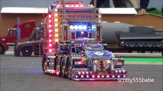 Rc Trucks @ Leyland. 8 November 2014. Tamiya Scania V8 Cascadia Wedico. Rc Construction