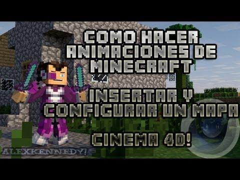 Como Hacer Animaciones de Minecraft!   2° Insertar un Mapa y Configurarlo sin errores   Cinema 4D