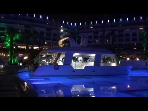 Floating restaurant . Turkey Side . Hotel Crystal Sunset Luxury Resort & Spa .