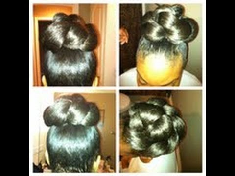 10 minute High Bun: Part 1 Tutorial (Video)