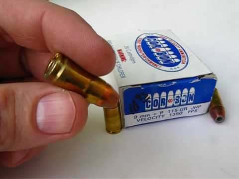 Ammo Test  9mm Luger - Corbon 115 Gr. +P