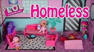 🏠🌸LOL Surprise Doll House Homeless Hannah Stop Motion Cartoon🌺