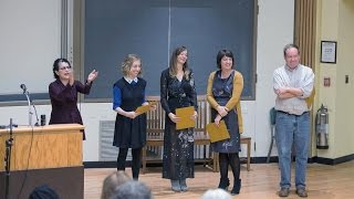 The Philip Freund Prize for Creative Writing Alumni Reading - October 15, 2015