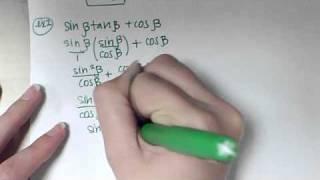 Trig Identities - Simplifying