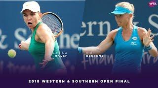 Simona Halep vs. Kiki Bertens | 2018 Western & Southern Open Final | WTA Highlights