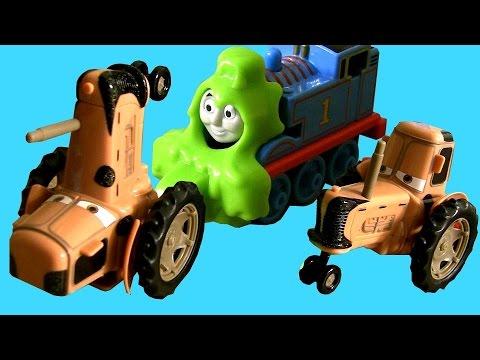 Cars Tractor Tipping Thomas The Tank Engine Portable Railway Train On Sodor Disney Pixar video