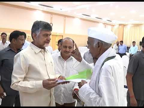 SRI A  MALLIKARJUNA SHARMA, FREEDOM FIGHTER MET AP CM AT PRAJAVEDIKA ON 29092018